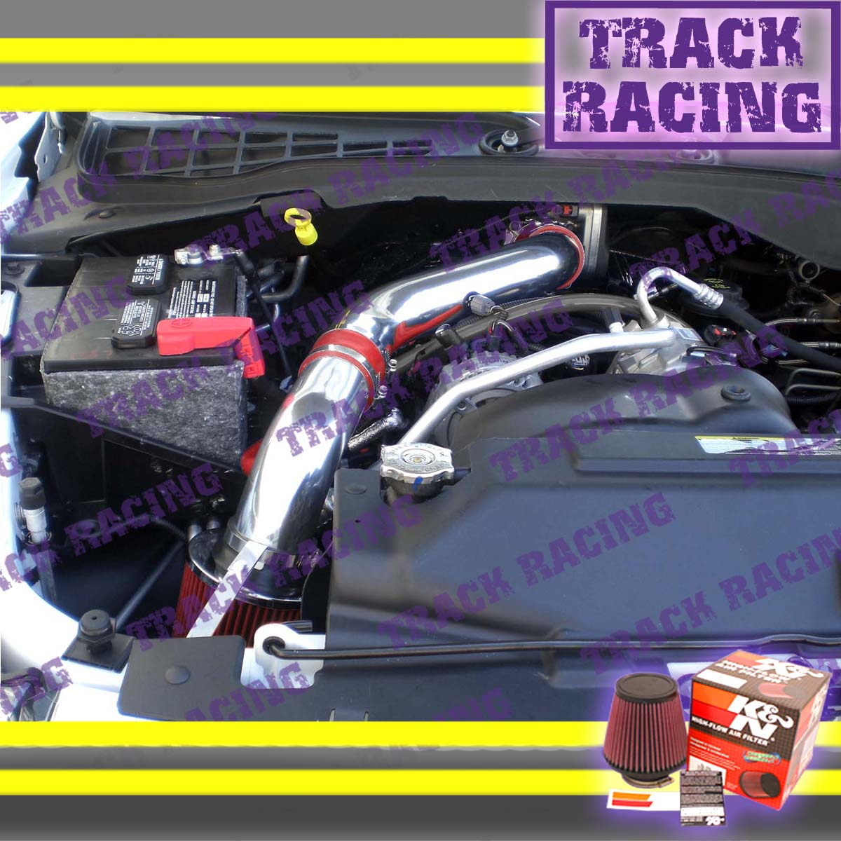RED 04 05 06 07 08//2004-2008 DODGE DURANGO 5.7 5.7L V8 COLD AIR INTAKE KIT