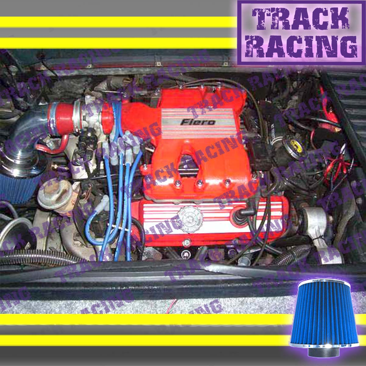 RED 1984-1988//84-88 PONTIAC FIERO SE//GT 2.8L V6 AIR INTAKE INDUCTION KIT