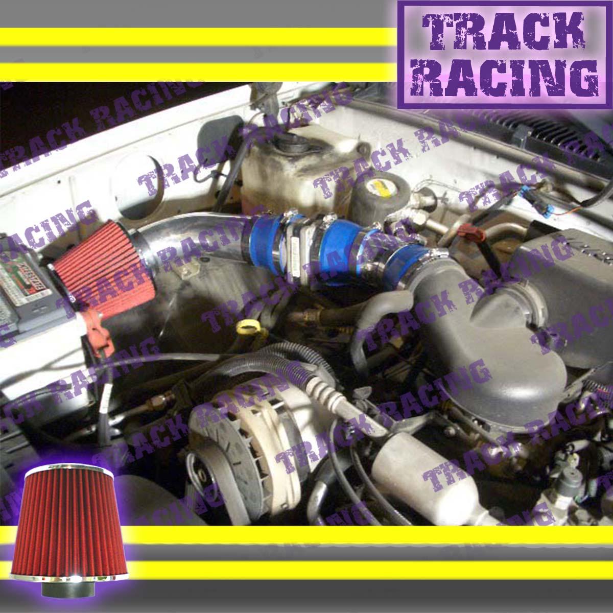 96-00 GMC CHEVY CADILLAC SUV TRUCK 5.0L 5.7L V8 COLD AIR INTAKE KIT Blue 2P